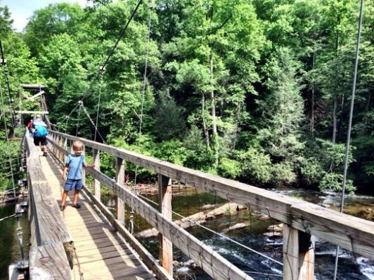 Toccoa River Swinging Bridge Blue Ridge Georgia