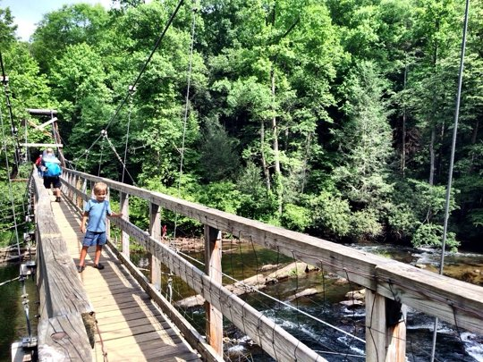 Toccoa River Swinging Bridge Blue Ridge Georgia